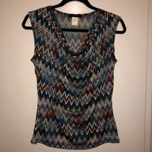 Sleeveless Patterned Top
